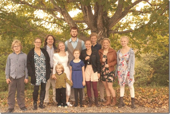 with our family